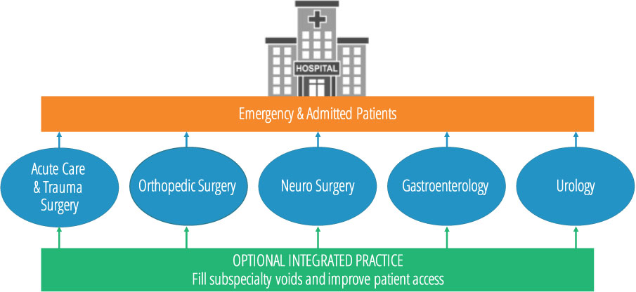 Surgical Colleagues business model graphic